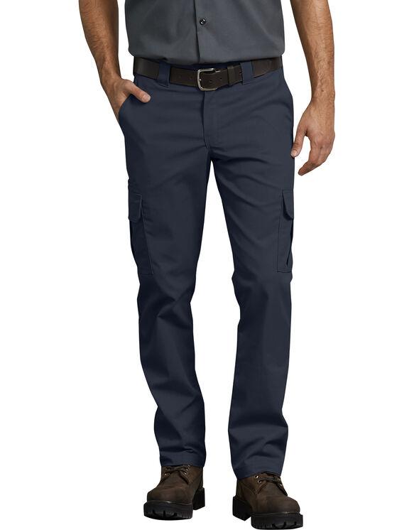 Pantalon cargo FLEX à coupe ajustée et jambe droite - Dark Navy (DN)