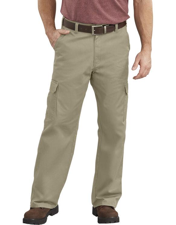Loose Fit Straight Leg Cargo Pants - Khaki (RKH)