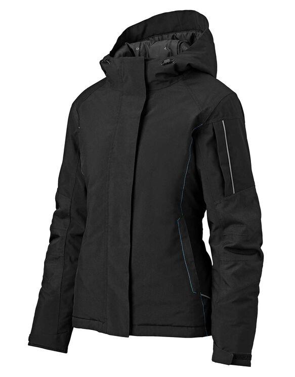 Women's Performance Workwear Insulated Waterproof Jacket - Black (BK)