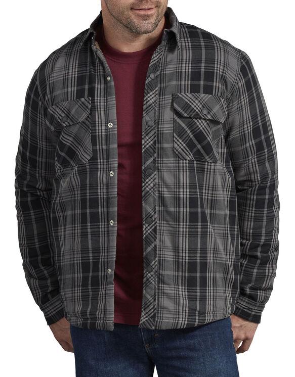 Sherpa Lined Shirt Jacket - Black/Slate Plaid (AAP)