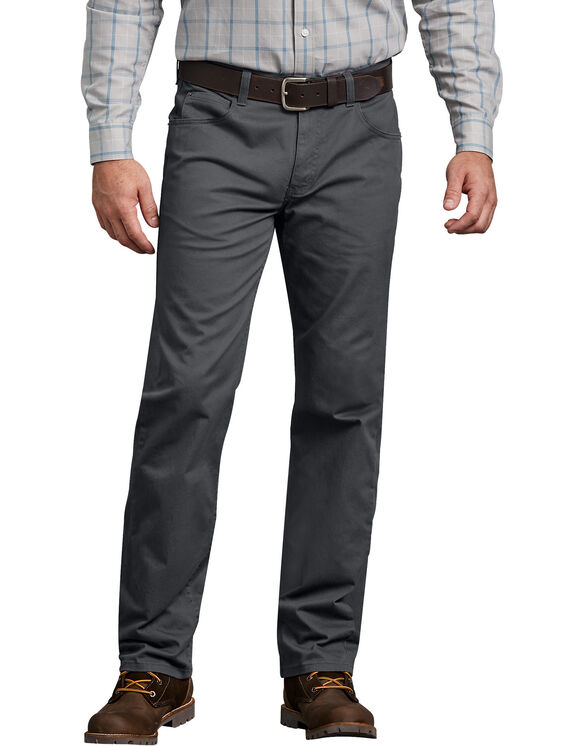 Dickies X-Series Regular Fit Straight Leg 5-Pocket Pants - Rinsed Charcoal Gray (RCH)