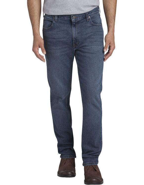 Dickies X-Series Slim Fit Tapered Leg 5-Pocket Denim Jeans - Stretch Medium Indigo Blue (MSI)