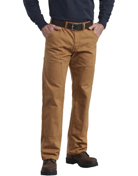 Pantalon en coutil avec panneaux avant doubles fini brossé - Brun rincé (RBD)