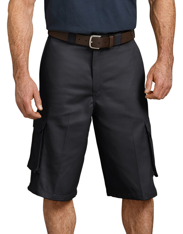 "13"" Loose Fit Cargo Shorts - Black (BK)"