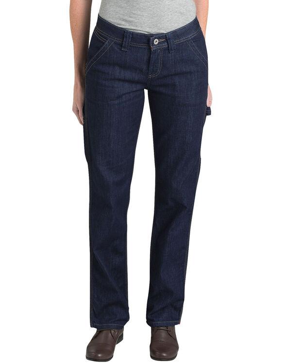 Jeans menuisier pour femmes - DARK INDIGO BLACK (DIB)
