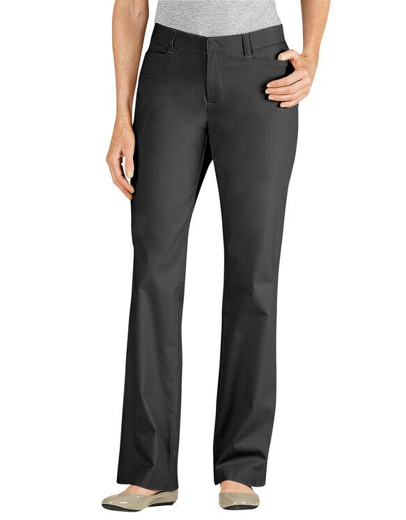 Women's Curvy Fit Straight Leg Stretch Twill Pant - BLACK (BK)