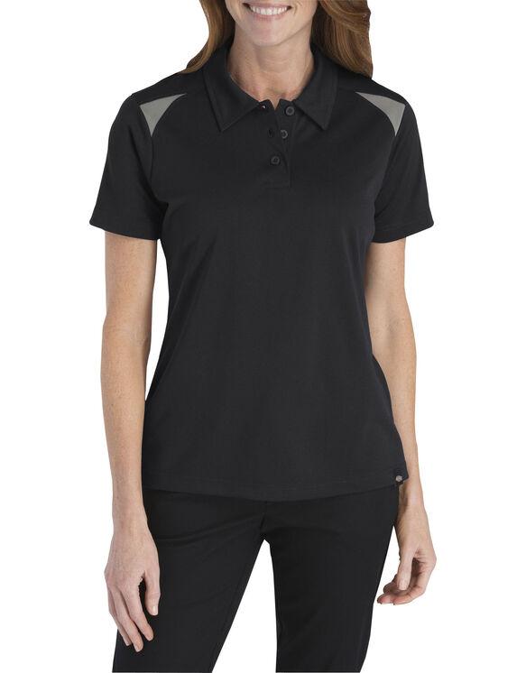 Women's Performance Shop Polo Shirt - Black Gray Tone (BKSM)