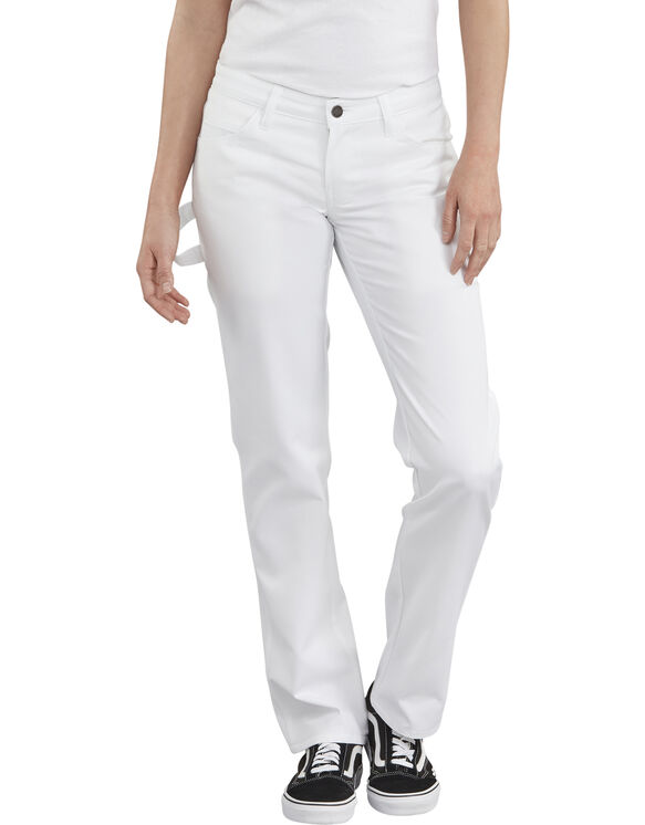 Women's FLEX Painters Utility Pants - White (WH)