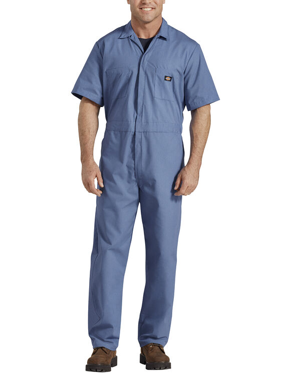 Short  Sleeve  Coverall  - Medium Blue (MB)