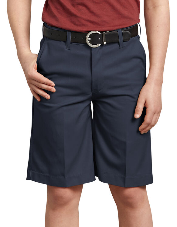 Boys' FlexWaist® Flat Front Shorts, 8-20 - Dark Navy (DN)