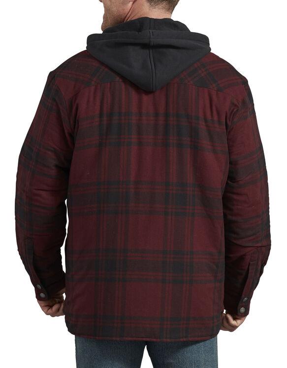 Veste-chemise piquée emblématique à capuchon, coupe décontractée - Dark Port Black Plaid (PBP)