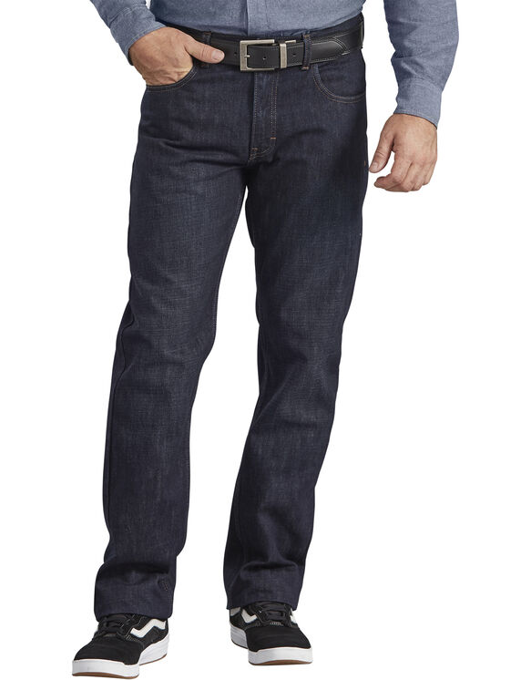 Dickies X-Series Regular Fit Straight Leg 5-Pocket Denim Jeans - Dark Indigo Blue (HDI)