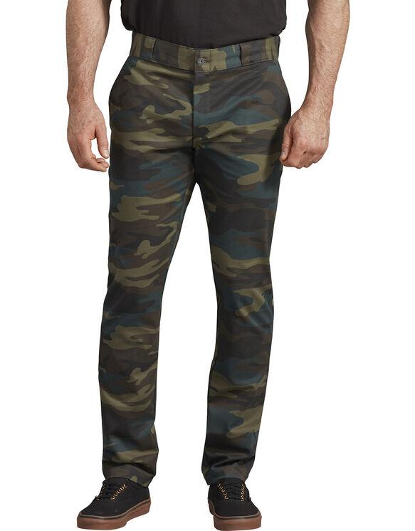 Pantalon de travail en toile croisée à coupe étroite droite - Hunter Green Camo (HRC)
