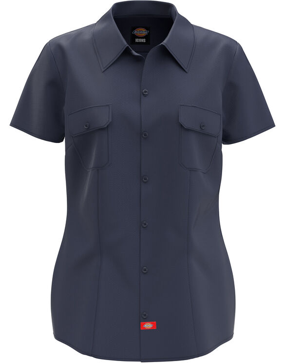 Women's Short Sleeve Work Shirt - Dark Navy (DN)