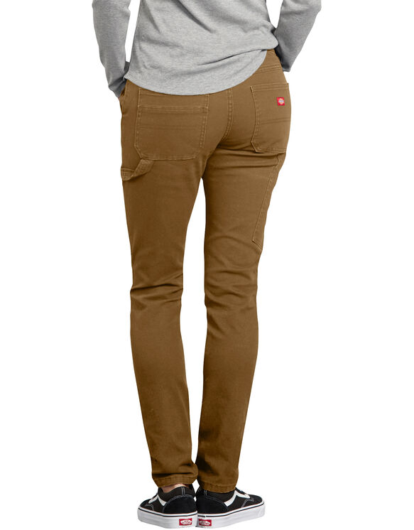 Women's Stretch Washed Carpenter Pants - Brown Duck (RBD)