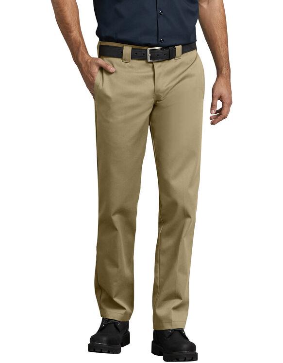 Slim Fit Straight Leg Work Pants - Military Khaki (KH)