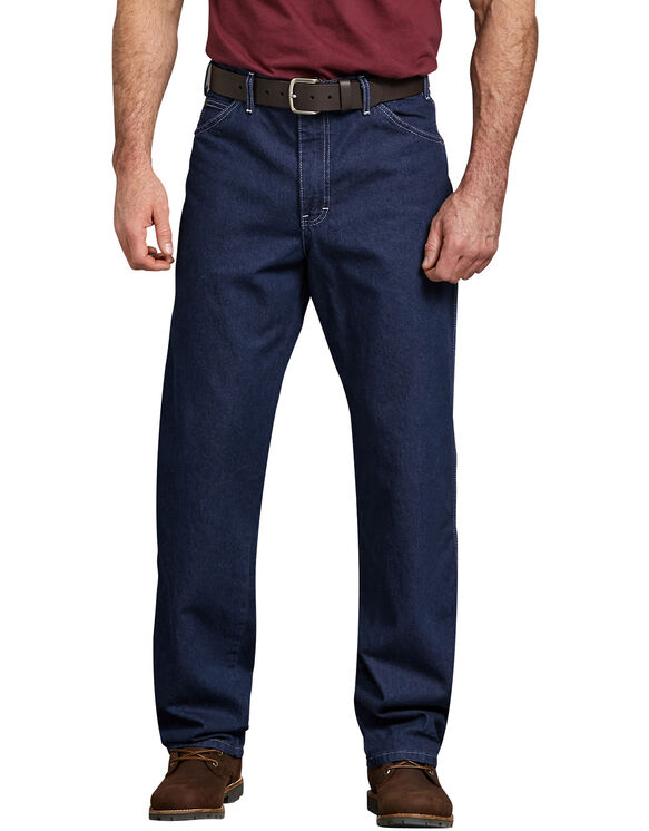 Relaxed Straight Fit Carpenter Denim Jeans - Rinsed Indigo Blue (RNB)