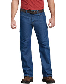 FLEX Relaxed Fit Straight Leg 5-Pocket Carpenter Tough Max™ Denim Jeans - Stonewashed Indigo Blue (SNB)