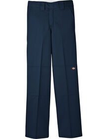 Boys' FlexWaist® Relaxed Fit Straight Leg Double Knee Pants, 8-20 - Dark Navy (DN)