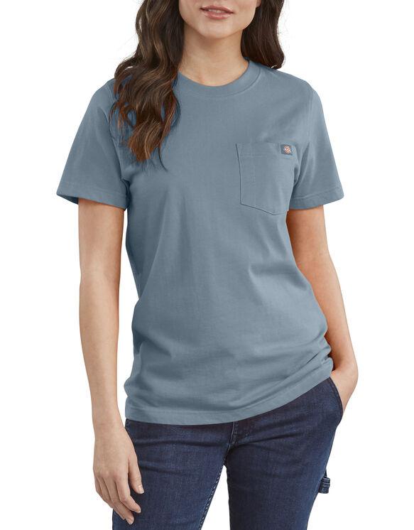Women's Short Sleeve Heavyweight T-Shirt - Dockside Blue (DU1)