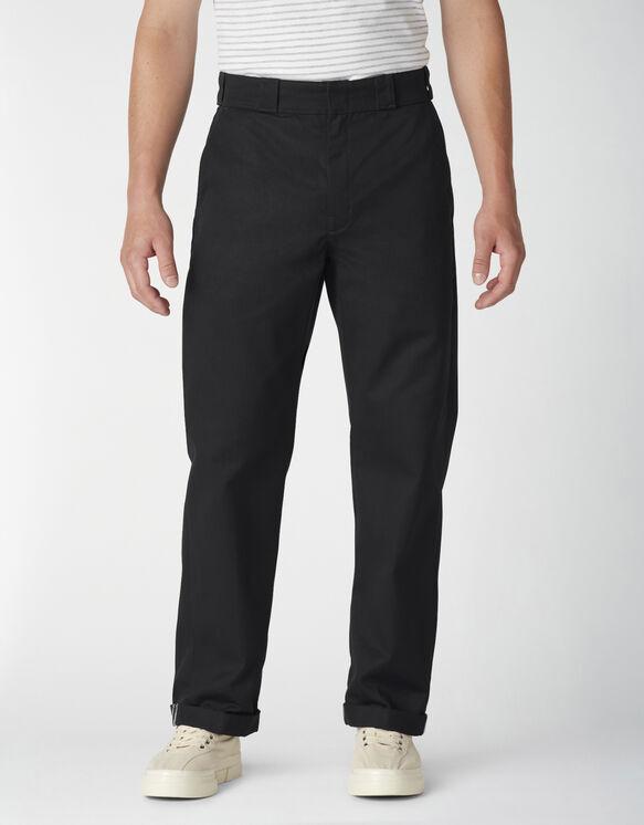 Pantalon à revers de coupe standard - Black (BKX)