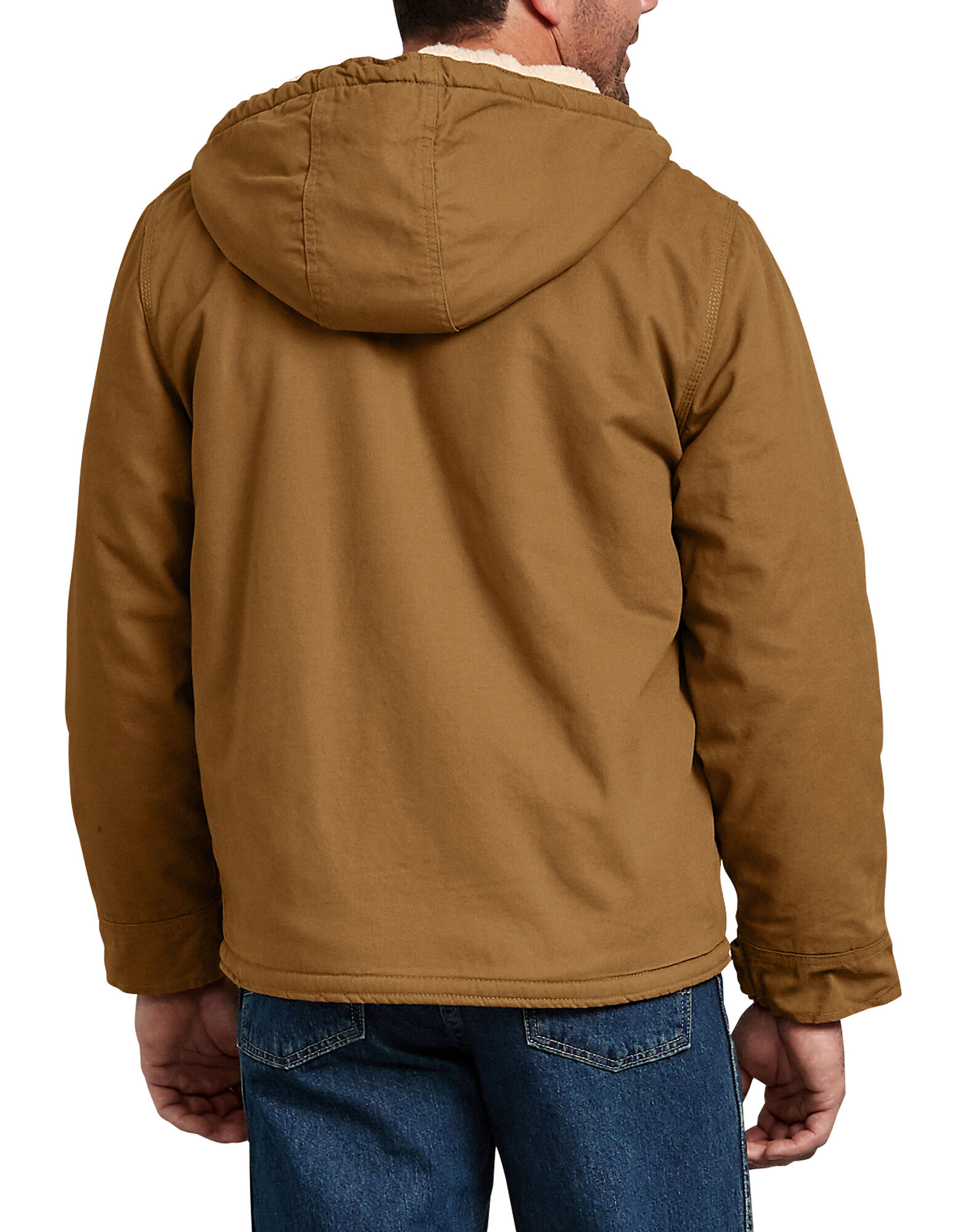 2f9339684ed0 ... Duck Sherpa Lined Hooded Jacket - Brown Duck ...