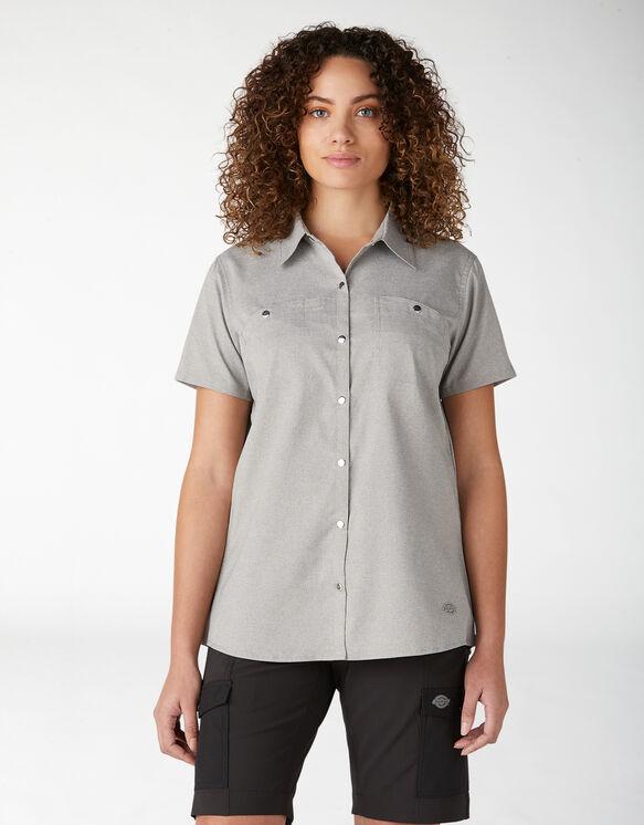 Chemise de travail à manches courtes Temp-iQ™ pour femmes - Alloy Heather (LYH)