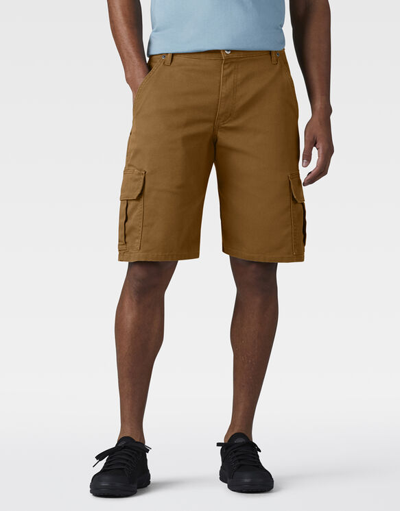 "11"" Relaxed Fit FLEX Tough Max™ Duck Cargo Shorts - Stonewashed Brown Duck (SBD)"