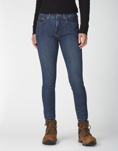 Women's Perfect Shape Skinny Leg Stretch Denim Jean - Stonewashed Indigo Blue (SNB)