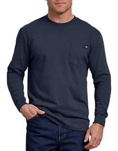 T-shirt à manches longues avec poche - marine foncé (DN)