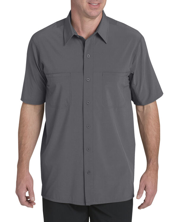 Performance 4-Way Flex Woven Cooling Shirt - Graphite Gray (GA)