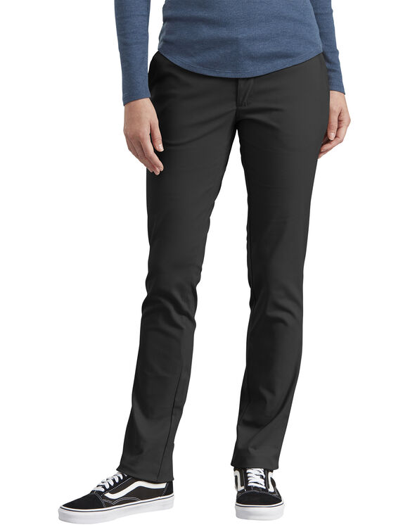 Pantalon en sergé extensible pour femmes  - Noir (BK)