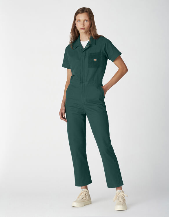 Women's Reworked Coveralls - Forest Green (FT)