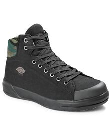 Men's Supa Dupa Steel Toe High Top Shoes - Black Camo (SCD)