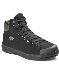 Men's Supa Dupa Steel Toe High Top Shoes - Black Camo (SCD)