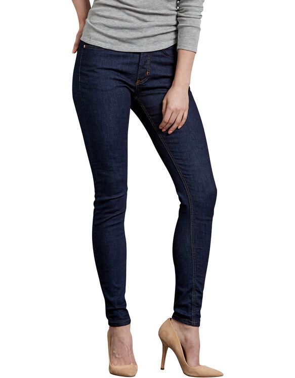 Jeans extensible Forme parfaite à jambe étroite pour femmes - Bleu indigo rincé (RNB)