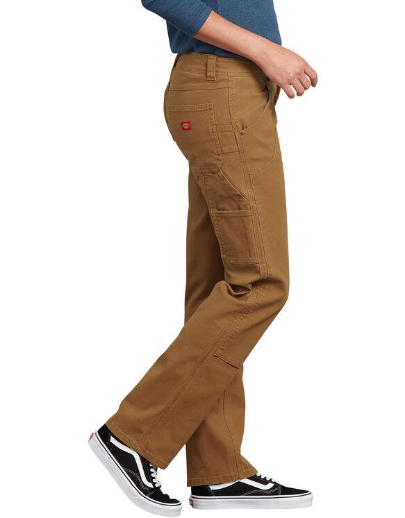 Women's Stretch Double-Front Duck Carpenter Pants - Brown Duck (RBD)