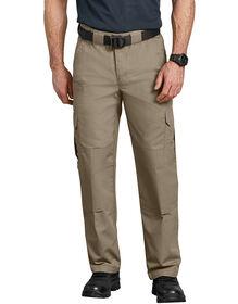 Tactical Relaxed Fit Straight Leg Lightweight Ripstop Cargo Pants - Desert Khaki (DS)
