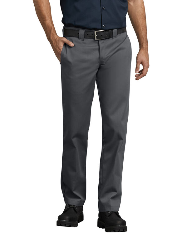 Slim Fit Straight Leg Work Pants - Charcoal Gray (CH)