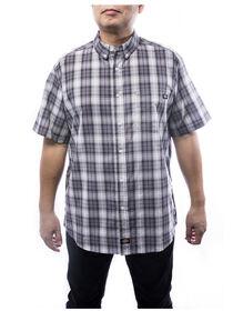 Couleur leger manche courte chemise a carreaux pour hommes - Charcoal Gray (CH)