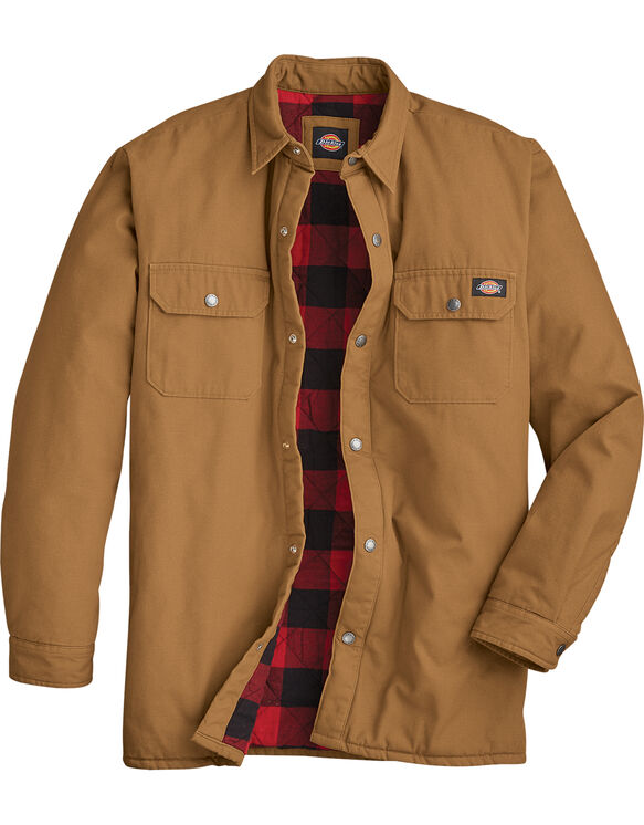 Plaid Lined Shirt Jacket - Brown Duck (BD)