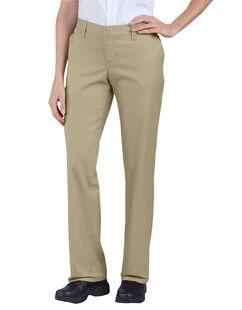 Women's Premium Relaxed Straight Flat Front Pants - Desert Khaki (DS)