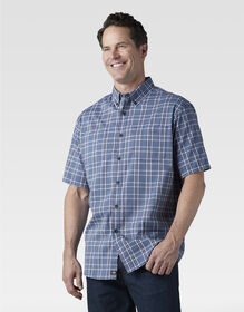 Icon Relaxed Fit Yarn Dyed Camp Shirt - Dusty Blue Navy Plaid (PDN)