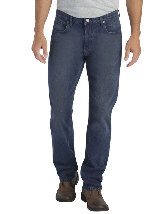 Dickies X-Series Regular Fit Straight Leg 5-Pocket Denim Jeans - Dark Wash Stretch Indigo (DSI)
