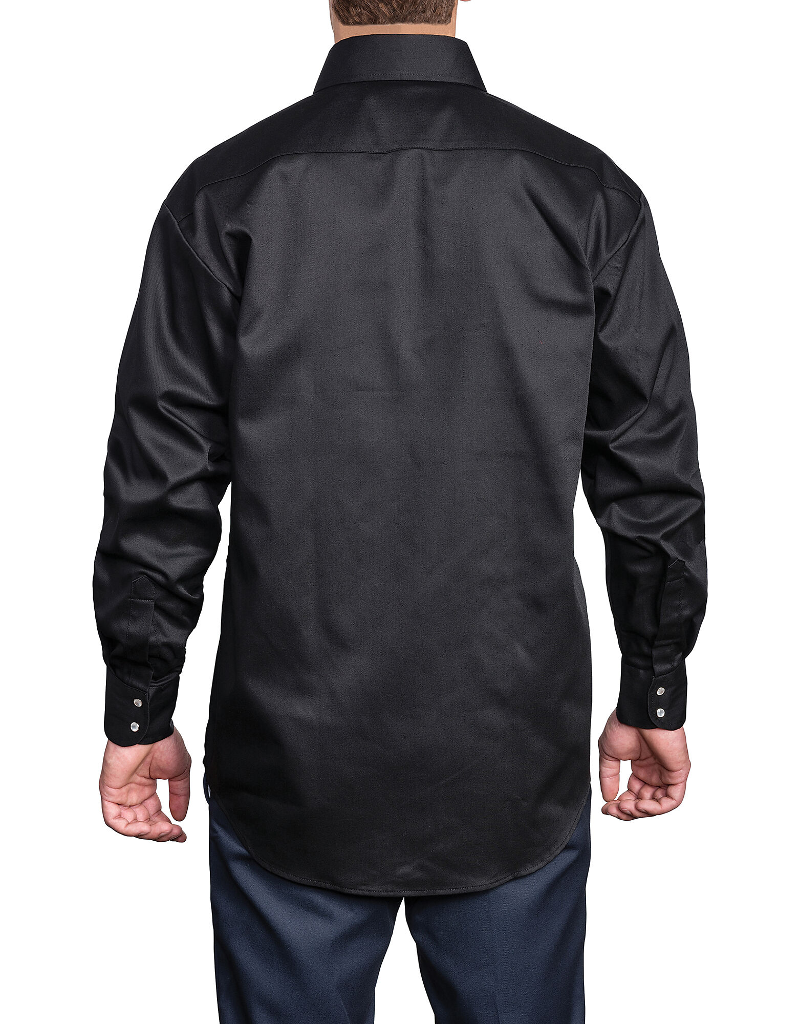 Snap front work shirt dickies canada for Black long sleeve work shirt