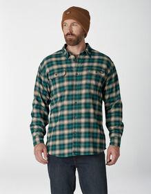 FLEX Long Sleeve Flannel Shirt - Forest Desert Sand Plaid (TP2)
