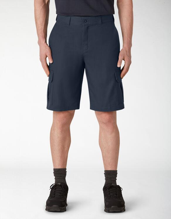 Cooling Temp-iQ™ Active Waist Twill Cargo Shorts - Dark Navy (DN)