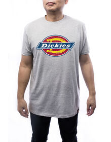 Men's short sleeve logo T-shirt - Heather Gray (HG)