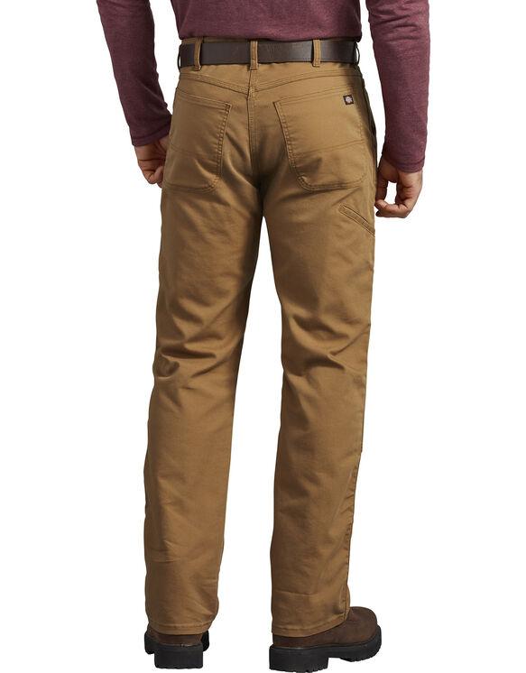 Pantalon FLEX en coutil à genoux renforcés de coupe standard - Stonewashed Brown Duck (SBD)