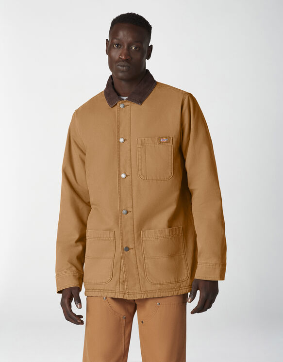 Duck Canvas Chore Coat - Stonewashed Brown Duck (SBD)